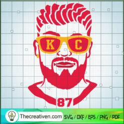 Travis Kelce SVG, Travis Kelce Number 87 SVG, Kansas City Player SVG