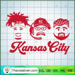 Kansas City SVG, Coach And Player SVG, Kansas City Chiefs Team SVG