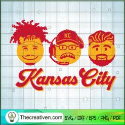 Colorful Kansas City SVG, Coach And Player SVG, Kansas City Chiefs Team SVG
