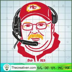Big Red SVG, Kansas City Chiefs SVG, Andy Reid SVG