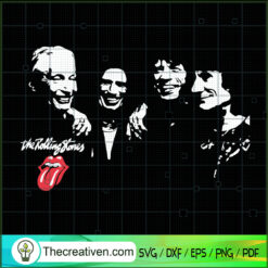 The Rolling Stones SVG, Music Band SVG, Mick Jagger SVG