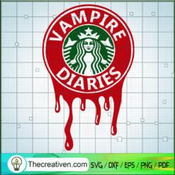 Vampire Diaries Starbucks SVG, Starbucks SVG, Starbucks Halloween SVG