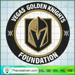 Vegas Golden Knight Foundation SVG, Vegas Golden Knights Logo SVG, NHL SVG