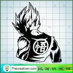 Behind Vegeta Dragon Ball SVG, Dragon Ball Z SVG, Goku SVG