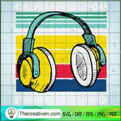 Retro Headphone SVG, Music SVG, Gaming SVG