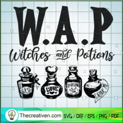 W.A.P Witched And Potions SVG, Potions SVG, Witches SVG, Halloween SVG