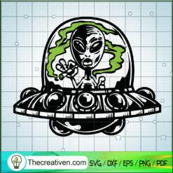 Alien Smoke Weed SVG, Cannabis SVG, Marijuana SVG