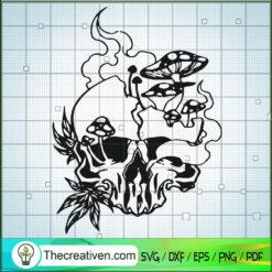 Horror Skull SVG, Skull Cannabis SVG, Halloween Cannabis SVG