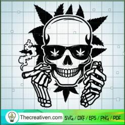 Skull Smoke Weed SVG, Skull SVG, Cannabis SVG