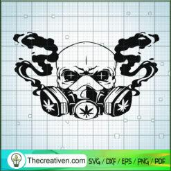 Wear Mask And Smoke Weed SVG, Smoking Weed SVG, Cannabis SVG