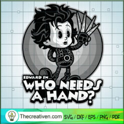 Edward In Who Needs a Hand SVG, Chibi Characters SVG, Edward Scissorhands SVG