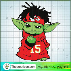 Yoda Kansas City Chiefs SVG, Baby Yoda SVG, Yoda NFL SVG