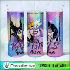 Bad Girls Have More Fun Full Tumbler Wrap, Halloween 20oz Skinny Straight, Skinny 20oz, PNG Digital File