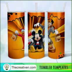 Disney Cartoon Characters Full Tumbler Wrap, Halloween 20oz Skinny Straight, Skinny 20oz, PNG Digital File