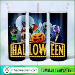 Halloween Poster Full Tumbler Wrap, Halloween 20oz Skinny Straight, Skinny 20oz, PNG Digital File