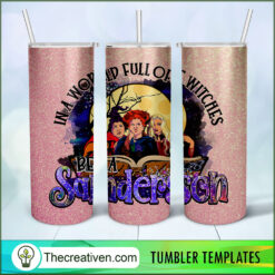 Hocus Pocus Halloween Full Tumbler Wrap, Halloween 20oz Skinny Straight, Skinny 20oz, PNG Digital File