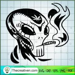 Stoned Alien SVG, Ailen SVG, Cannabis SVG