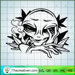 Ailen Smoke Weed SVG, Ailen 420 SVG, Cannabis SVG