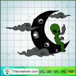 To The Moon Ailen Weed SVG, Ailen Weed SVG, Cannabis SVG