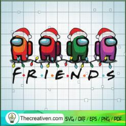 Among Us Frends Christmas SVG, Among Us Christmas SVG, Among Us SVG