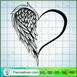 Wings Heart SVG, Lover SVG, Heart SVG