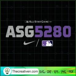 All Star Game Baseball SVG, ASG5280 SVG, MLB SVG