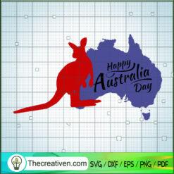 Happy Australia Day SVG, Kangaroo SVG, Australia SVG