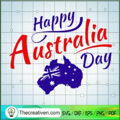 Happy Australia Day SVG, Australia SVG, Australia Flag SVG